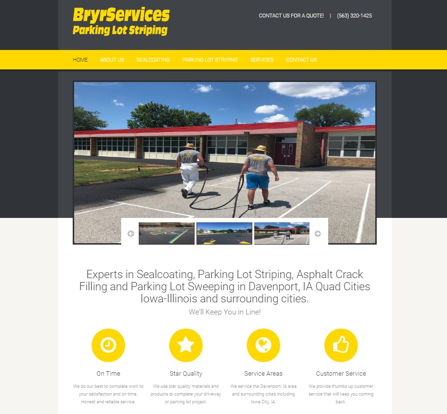 Bryr Services Website Home Page Pic