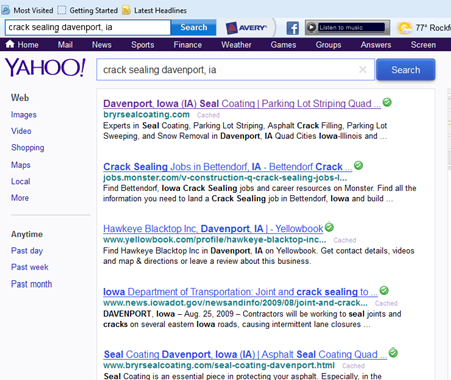 Bryr Services SEO Page #1 Rank Yahoo