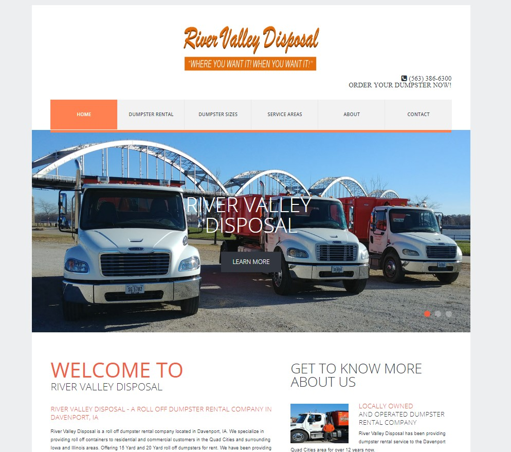 River Valley Disposal Website Design Pic