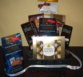 Thank You Ghirardelli Chocolate Gift Basket.